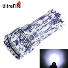 UltraFire Chinese Blue / White Porcelain Style XM-L T6 9-LED 8000lm White 5-Mode Flashlight Torch