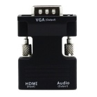 FineSource 1080P HDMI Female to VGA Male Video Adapter w/ Audio - Black