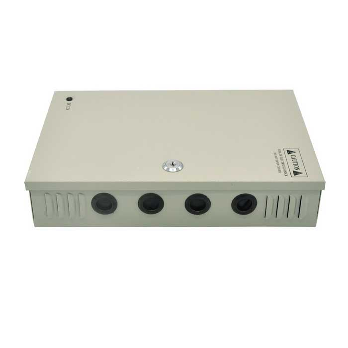 18-Ch 12V 20A 240W CCTV Power Supply Box for CCTV Camera - Silver