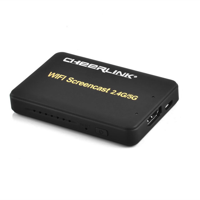 CHEERLINK 1080P 2.4G / 5G screencast wi-fi para ios, android - preto