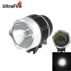 UltraFire 3W 1-LED 120lm 3-Mode White Light Bike Light - Black + Silver (2 x CR2032)