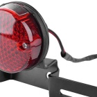 Motorcycle Modification 4.5W 760nm Red LED Tail Light - Black + Red