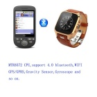 Fifine M-W9 Android 4.4.2 horloge telefoon w / 512MB RAM, 8GB ROM - brown