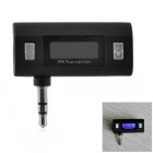 3.5mm Car Wireless Bluetooth FM Transmitter w/ Hands-Free Calling for All Phones - Black