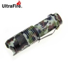 UltraFire 1-LED 200lm 3-Mode Mini Zoomable Flashlight Torch - AT Camouflage (1 x 14500 / AA)