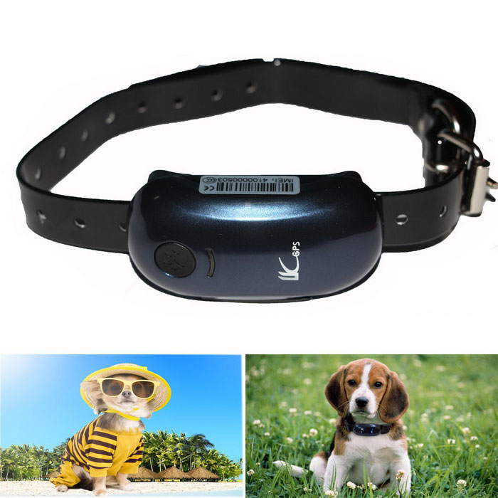 LK100 Pets GSM GPS Anti-lost Tracker Tracking Locator - Blue + Black