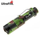 UltraFire 1-LED 900lm 5-Mode Camouflage Zoomable Powerful Flashlight Torch (1 x 18650)