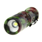 Ultrafire 1-LED 900lm 5-Mode Zoomable Powerful Flashlight - Camouflage