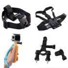 4-in-1 Sports Camera Accessories Kit for GoPro Hero 4 / 3 / 3+ / SJ4000 / SJ5000 / SJCam / Xiaoyi