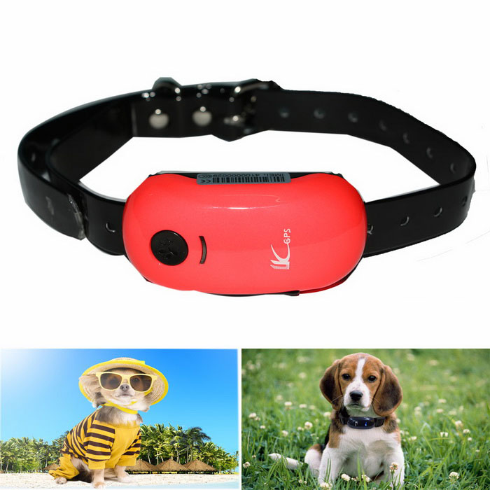 LK100 Pets GSM GPS Anti-lost Tracker Tracking Locator - Red + Black
