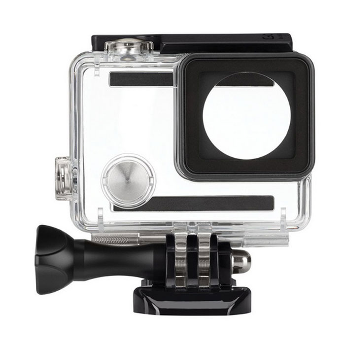 Waterproof Housing Case w/ Bracket for GoPro Hero4 - Black+Transparent