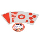 Interesting Magic Paper Cards w/ Teaching CD - White + Red + Multicolor