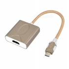 USB 3.1 Type-C to HDMI Adapter - Golden + Grey (19cm Cable)