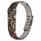 Replacement Leopard Print Large Sports TPE + TPU Wrist Band w/ Clasp for Fitbit Flex Smart Bracelet