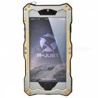 R-JUST Sport Protective Aluminum Alloy Full Body Case for IPHONE 6 - Black + Gold