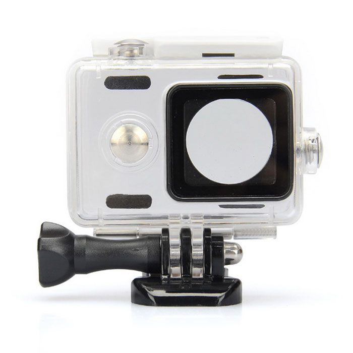 Kingma Waterproof Housing Case Shell for Xiaomi Xiaoyi - WhiteOther Accessories<br>Form ColorTransparent + WhiteMaterialPlasticQuantity1 DX.PCM.Model.AttributeModel.UnitCompatible BrandXiaomiCompatible ModelXiaoyiOther FeaturesWaterproof to 60m underwaterPacking List1 x Waterproof case1 x Long screw1 x Black buckle basic mount<br>
