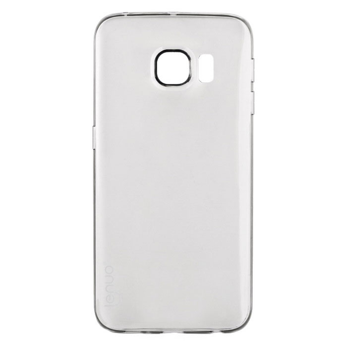 Lenuo Ultra-thin TPU Back Case for Samsung S6 Edge - Translucent Grey