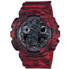 Genuine Casio G-Shock GA-100CM-4ACR Analog Digital Wrist Watch - Camouflage Red