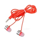 In-Ear Earphones w/ Clip, Mic, 3.5mm Plug for IPHONE - Red + Silver