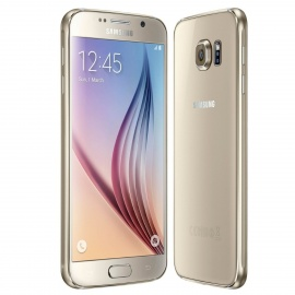"Samsung Galaxy S6 SM-G920F 5.1"" QHD Smart Phone with 3GB RAM, 32GB ROM - Golden"