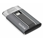 SanDisk SDIX-128G iXpand 128GB Mobile Flash Drive w/ Lightning Connector - White + Silvery Grey