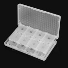 32-in-1 Game Cards Holder Organizer Storage Case Box for 3DS / 3DSLL - Translucent White