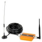 "2G / 3G / 4G Cell Phone Lightning-Proof Signal Booster w/ 0.6"" LCD - Golden + Black"