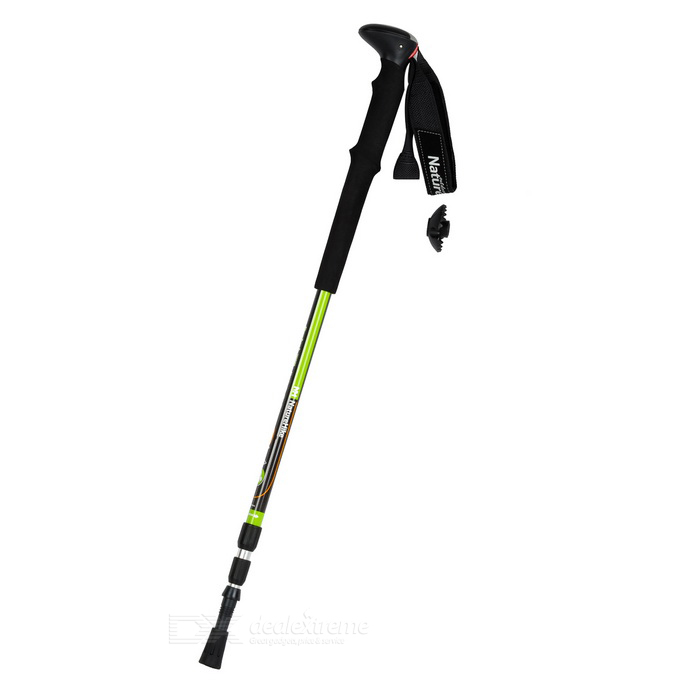 Naturehike ultra-light retráctil trekking polo alpenstock - negro