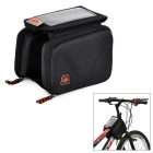 Outdoor Cycling Bike Bicycle EVA Touch Screen Top Tube Double Bag - Black