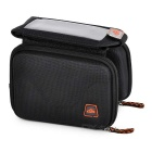 Outdoor CyclingEVA Touch Screen Top Tube Double Bag - Black