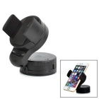 360' Rotation Mini Car Mount Holder Stand for IPHONE / Cellphones / GPS Navigator - Black