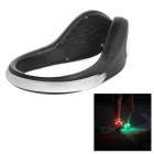 Outdoor Sports White LED Light Safety Shoes Clip for Cycling / Running - White + Black