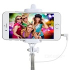 Mini Retractable Selfie Rod for IPHONE, Samsung + More - Black + White