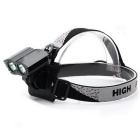 UltraFire T6 2-LED 2000lm 4-Mode White Bicycle Light Headlamp - Black