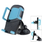 MO.MAT Universal Car Air Vent Mount w/ Suction Cup Holder for Smart Phone - Black + Blue