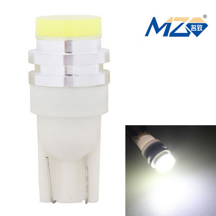 MZ T10 5W White Light 6500K 300lm COB LED Car Clearance Lamp (12V)LED Wedge Bulbs<br>Color BINWhiteModelN/AQuantity1 DX.PCM.Model.AttributeModel.UnitMaterialAluminumForm ColorWhiteEmitter TypeCOBChip BrandOthers,N/AChip TypeN/ATotal Emitters1Power5WColor Temperature6500 DX.PCM.Model.AttributeModel.UnitTheoretical Lumens350 DX.PCM.Model.AttributeModel.UnitActual Lumens300 DX.PCM.Model.AttributeModel.UnitRate Voltage12VWaterproof FunctionNoConnector TypeT10ApplicationClearance lampPacking List1 x LED light<br>