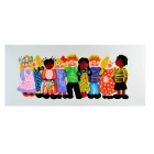Happy Children Taking Photos Canvas Art Hand Painted Oil Painting - Multi-Color