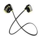 Bluetooth V4.0 Mini Leichte Sport Wireless Stereo In-Ear-Ohrhörer w / Mikrofon - Schwarz + Gelb