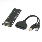 CY U3-067 / SA-160 Cable SATA 22Pin + adaptador SSD para MACBOOK - negro