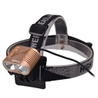 RichFire 2-LED XM-L T6 1200lm Cool White 4-Mode Eagle Eye Bike Front Light Headlamp (4 x 18650)