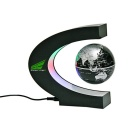 C Shaped LED Magnetic Levitation Globe 360' Display Toy - Black