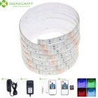 5M 75W Waterproof LED Light Strips RGB 3600lm 300-5050 SMD w/ 10-Key Remote Control / US Adapter