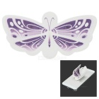 Creative Butterfly Style Portable Plastic Phone Holder Stand w/ Adhesive Tape - Purple