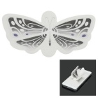 Creative Butterfly Style Portable Plastic Phone Holder Stand w/ Adhesive Tape - Black