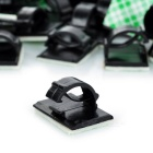 Car Wire Cable Clip Organizer with Adhesive Tape - Black (100PCS)