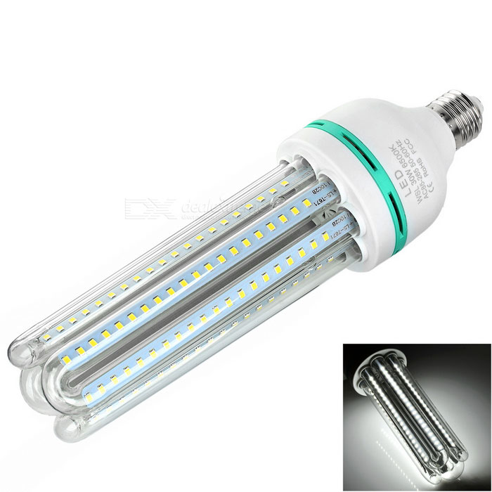 E27 30W 4U-muotoinen LED Corn lampun Cold White Light 2600lm SMD 2835