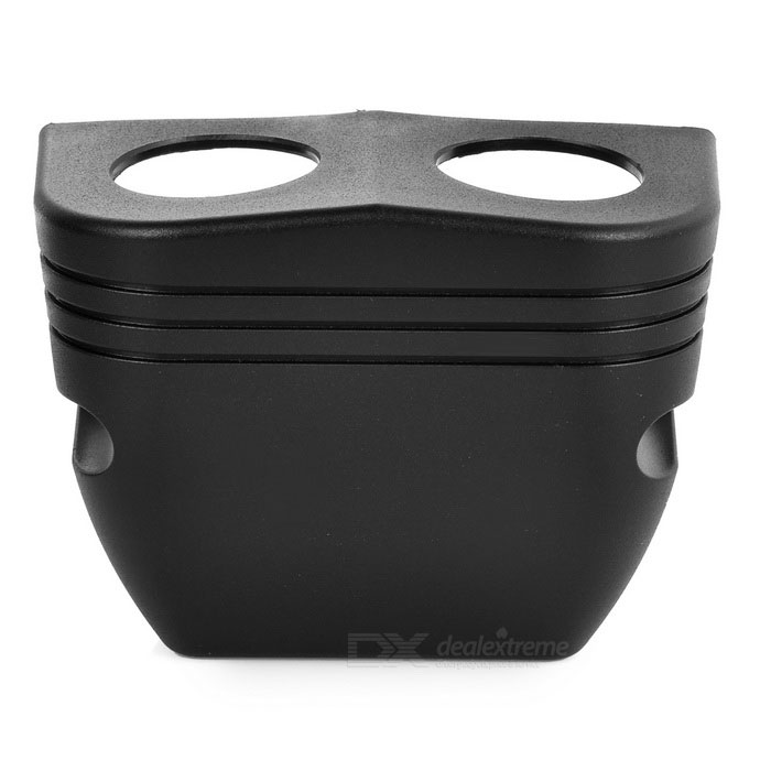 DIY Automotive Parts 2-Hole Car Instrument Cover - BlackOthers<br>Form ColorBlackQuantity1 DX.PCM.Model.AttributeModel.UnitMaterialABSTypeOthers,Motorcycle, Car Modified PartsWaterproof FunctionYesInstallation MethodFix with screwsPacking List1 x 2-Hole car instrument cover<br>
