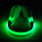 Outdoor Sports Green LED Light Safety Shoes Clip - White + Green