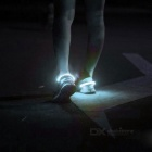 Outdoor Sports White LED Light Safety Shoes Clip - White