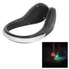 Outdoor Sports Blue LED Light Safety Shoes Clip for Cycling / Running - Black + Blue